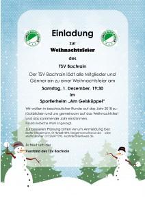 Weihnachtsfeier 2018 @ Sportlerheim TSV Bachrain | Künzell | Hessen | Deutschland