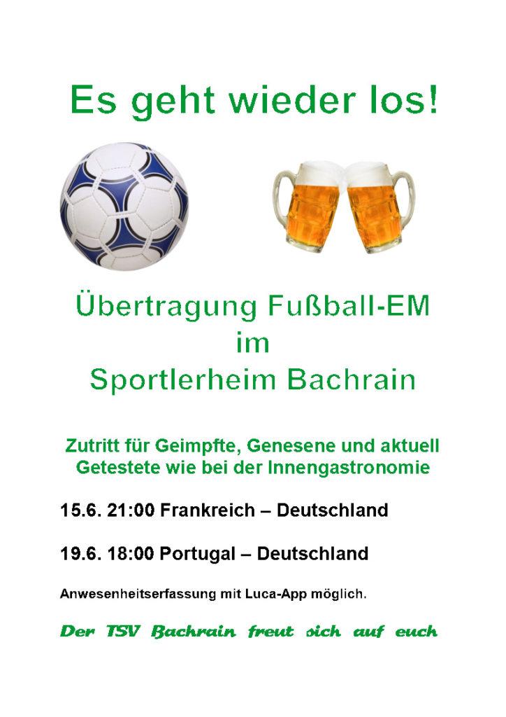 Ankündigung Fußball-EM